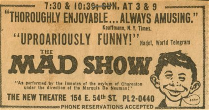 Newspaper Ad The MAD Show • USA