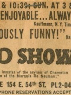 Go to Newspaper Ad The MAD Show