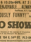 Image of 'The MAD Show' Musical - Newspaper Ad