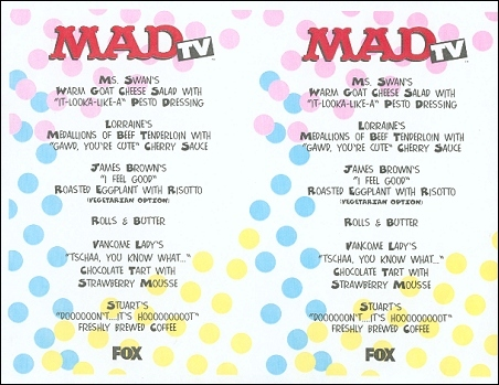 Placemat MAD TV • USA