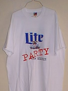 Go to T-Shirt Miller Lite Party Member
