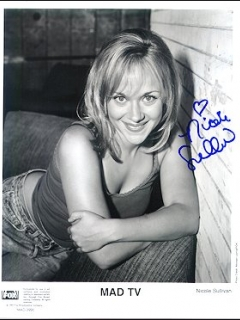 Photo Nicole Sullivan with Letter MAD TV • USA
