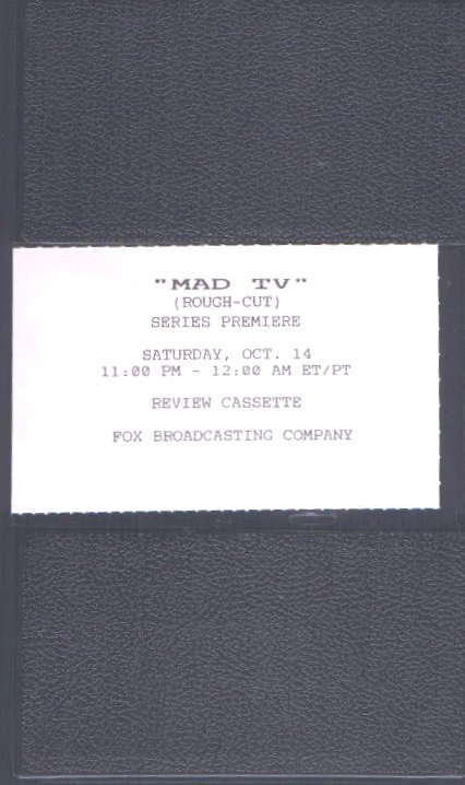 VHS Tape MAD TV Rough Cut from Series Premiere • USA