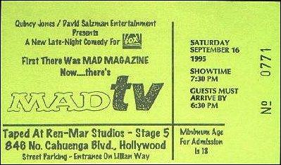 'MAD TV' Show - Show Ticket • USA
