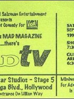 Go to Show Ticket MAD TV • USA