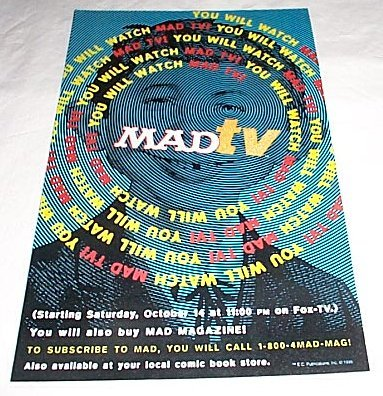 Poster Promotional MAD TV • USA