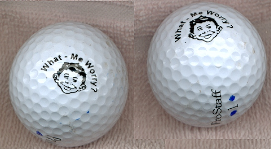 Golf Balls with Alfred E. Neuman Face • USA
