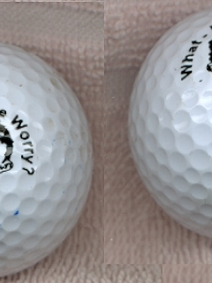 Go to Golf Balls with Alfred E. Neuman Face • USA