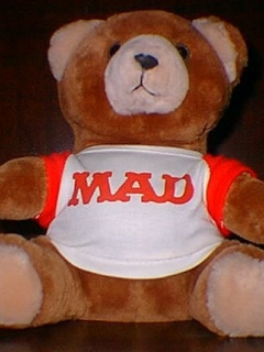 Go to Teddy Bear with MAD logo (owned by William M. Gaines) • USA