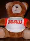 Image of Teddy Bear with MAD logo (owned by William M. Gaines)