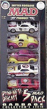 Hot Rod MAD Cars 'Dyno-Mite Diecast' (5 in a package) • USA