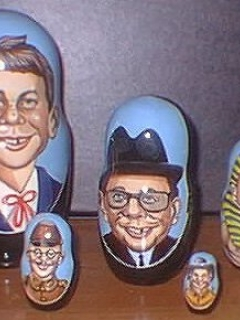 Nesting Dolls Alfred E. Neuman Look-A-Like • USA