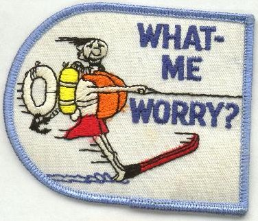 Water Skiing Patch 'What, me worry?' • USA