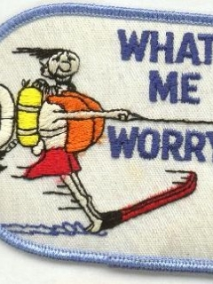 Go to Water Skiing Patch 'What, me worry?' • USA