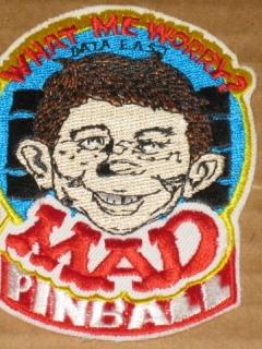 Patch MAD Pinball Machine • USA