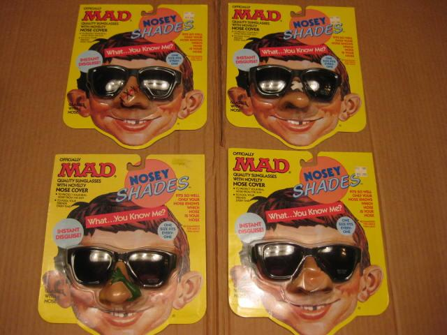 Nosey Shades MAD - Complete Set Of Four • USA