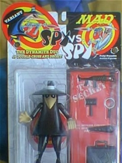 Action Figure Black Spy vs Spy Variant (Satin Finish) 1998 • USA
