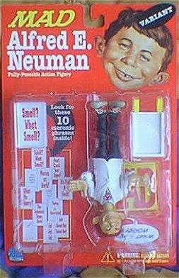 Fully Poseable Action Figure Alfred E. Neuman (White Coat Variant) • USA
