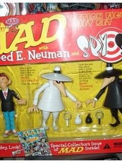 Alfred E. Neuman / Spy vs Spy Action Figure Set • USA