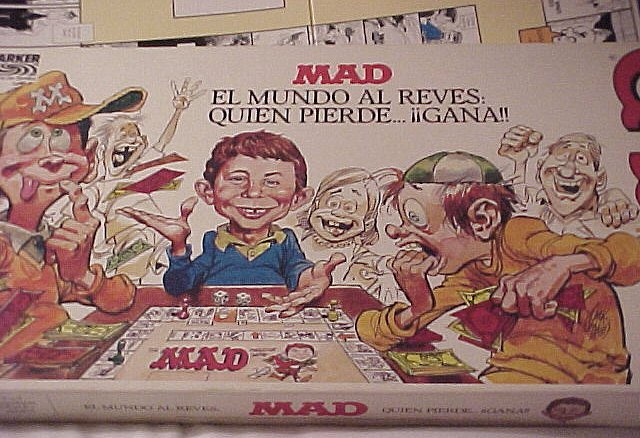 Board Game 'The MAD Magazine Game' • Spain