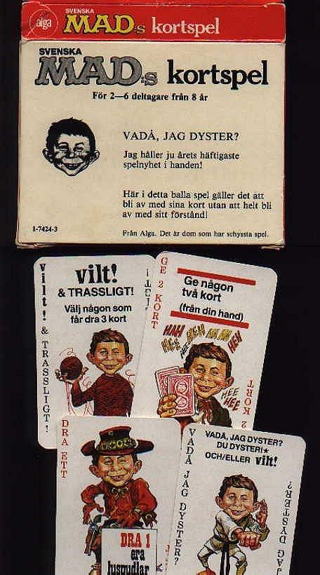 Card Game 'Svenskas MAD Kortspel' • Sweden