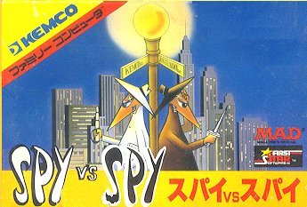 Computer Game Famicom Electronic Boxed 'Spy vs Spy' • USA
