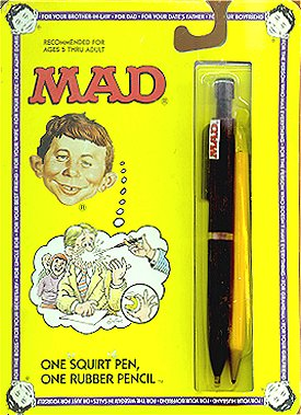Squirt Toy MAD 'Pen & Pencil Set' • USA