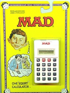 Squirt Toy MAD 'Calculator' • USA