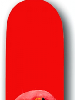 Skateboard 'Chapman' with Alfred wearing Helmet, red • USA