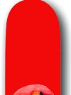 Image of Skateboard 'Chapman' with Alfred wearing Helmet, red