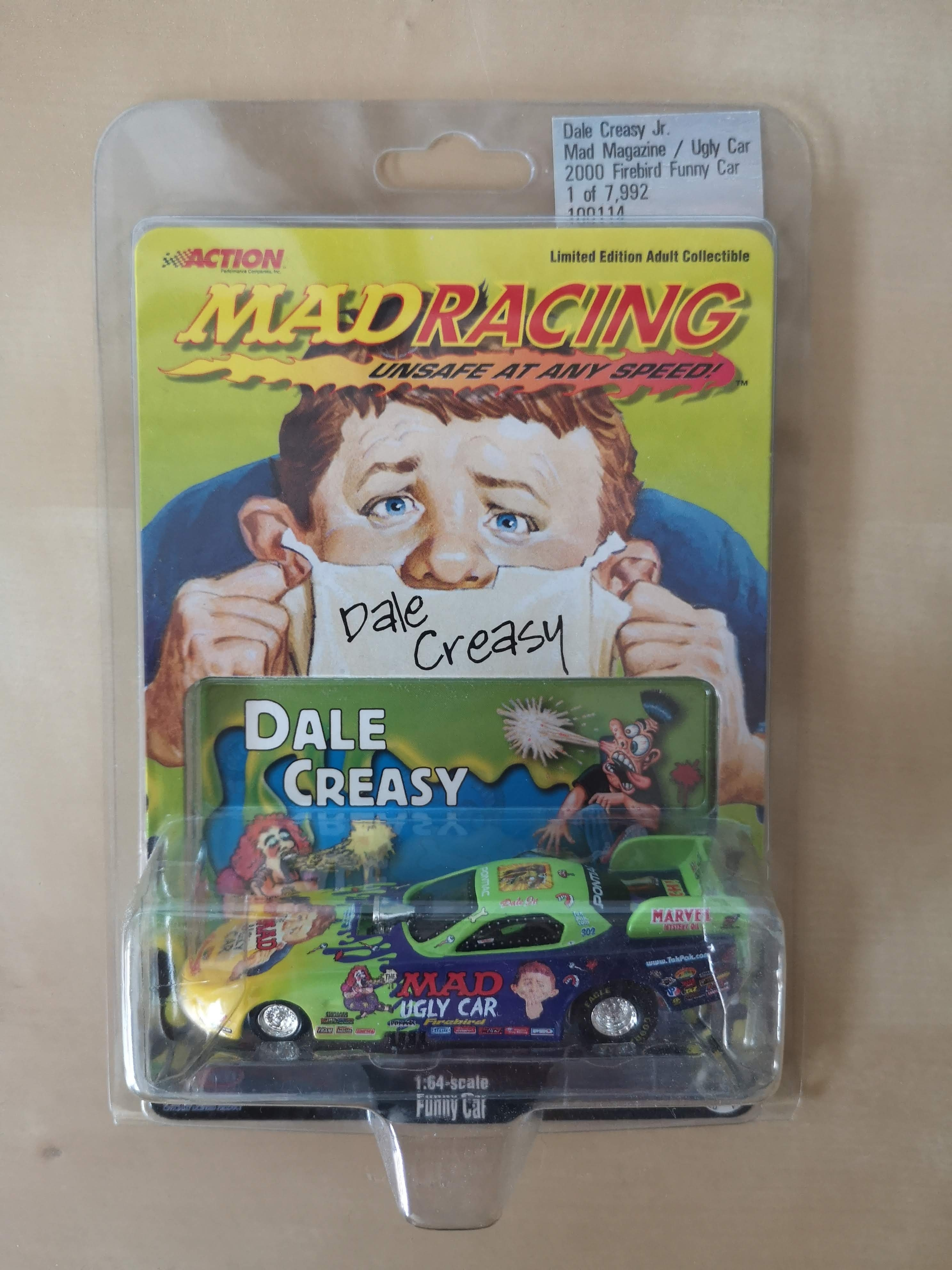 Die Cast Model Dale Creasy MAD Racing Funny Car Action 'Ugly Car' • USA