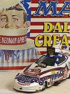 Go to Die Cast Model Dale Creasy MAD Racing Funny Car Action 'Vote MAD' (1/24)