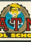 Image of Decal Set with 'Beatnik Cool School' & Alfred E. Neuman