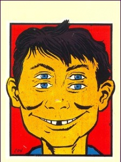 Go to Decal '4-Eyes' #1 with Alfred E. Neuman • USA