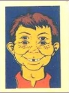 Image of Decal '4-Eyes' #2 with Alfred E. Neuman