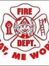 Image of Decal Fire Department 'What me worry?'