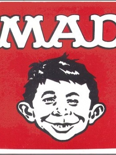 Go to Decal  with Alfred E. Neuman Square with MAD Logo • USA