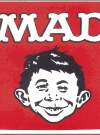 Image of Decal  with Alfred E. Neuman Square with MAD Logo