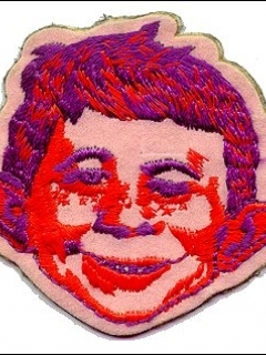 Cloth Patch red Alfred E. Neuman face • USA