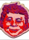 Cloth Patch red Alfred E. Neuman face