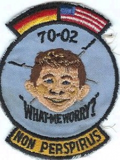 Go to Patch USAF Germany Training 1970 Alfred E. Neuman