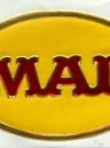 Image of Sticker MAD Magazine Red Logo on Yellow