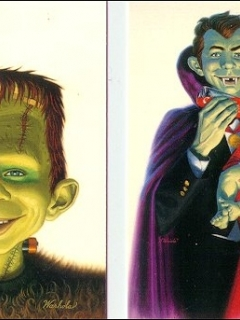 Go to Fantasy Art Cards James Warhola with Alfred E. Neuman