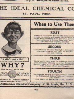 Antikamnia Newspaper Ad • USA