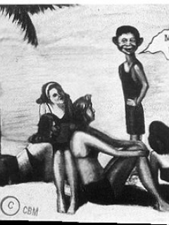 Go to Postcard Pre-MAD Alfred E. Neuman 'Me Worry? Miami'