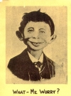 Image of Postcard Pre-MAD Alfred E. Neuman on Reverse side of a Ledger