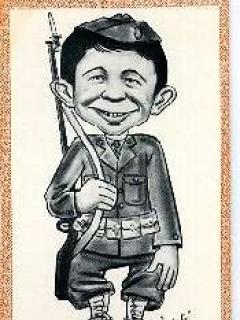 Go to Postcard Pre-MAD Alfred E. Neuman 'GI' • USA