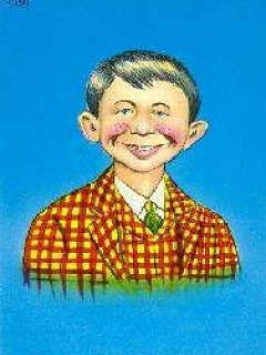 Go to Postcard Pre-MAD Alfred E. Neuman 'Checked Coat' • USA
