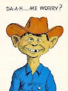 Go to Postcard Pre-MAD Alfred E. Neuman as a Cowboy • USA