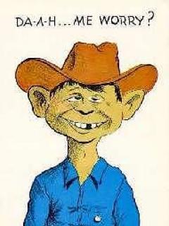 Go to Postcard Pre-MAD Alfred E. Neuman as a Cowboy